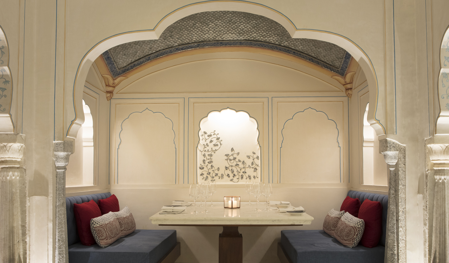Settle into a nook at Amarsar and savour dishes inspired by the Silk Route