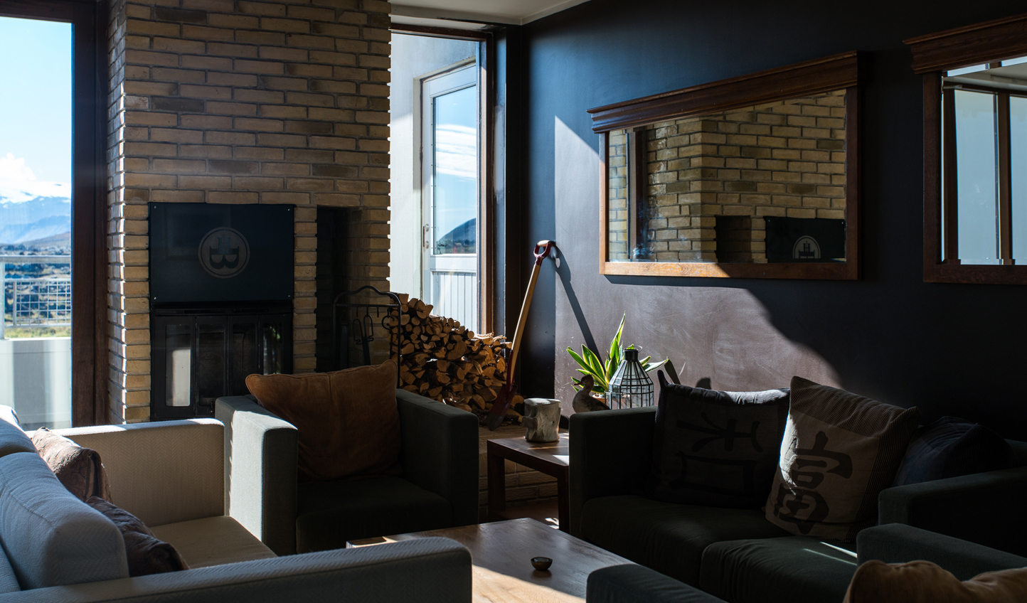 Shut out the outdoors and cosy up by the fire