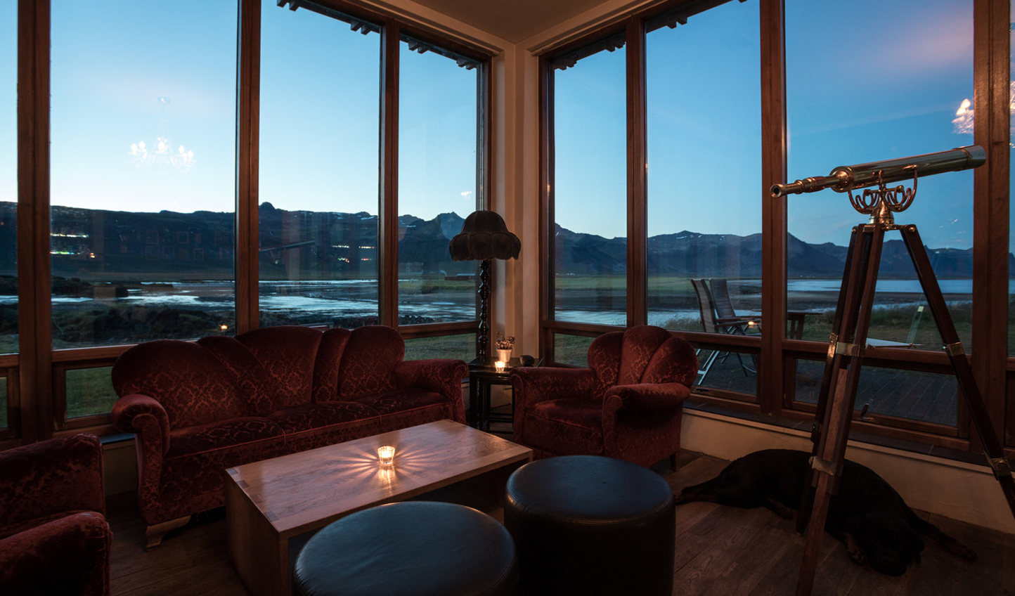 Keep an eye out for the Northern Lights from the snug lounge