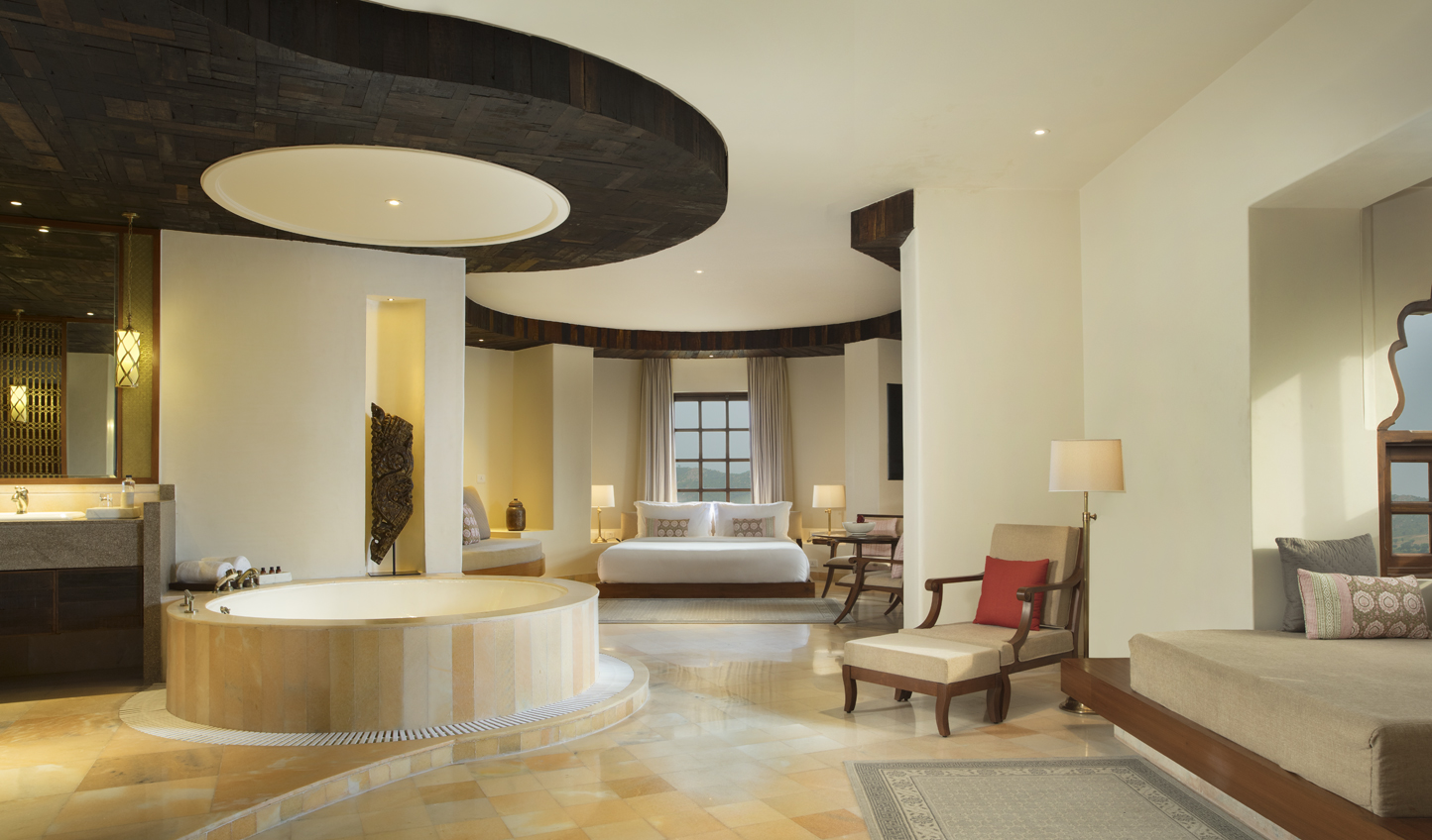 Sink into a bathtuob big enough for two in the Regal Suite