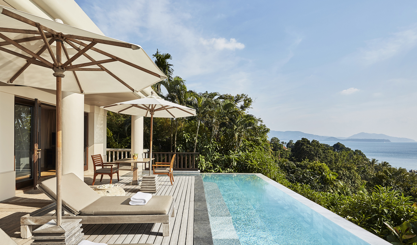 Look out over the ocean from your private villa