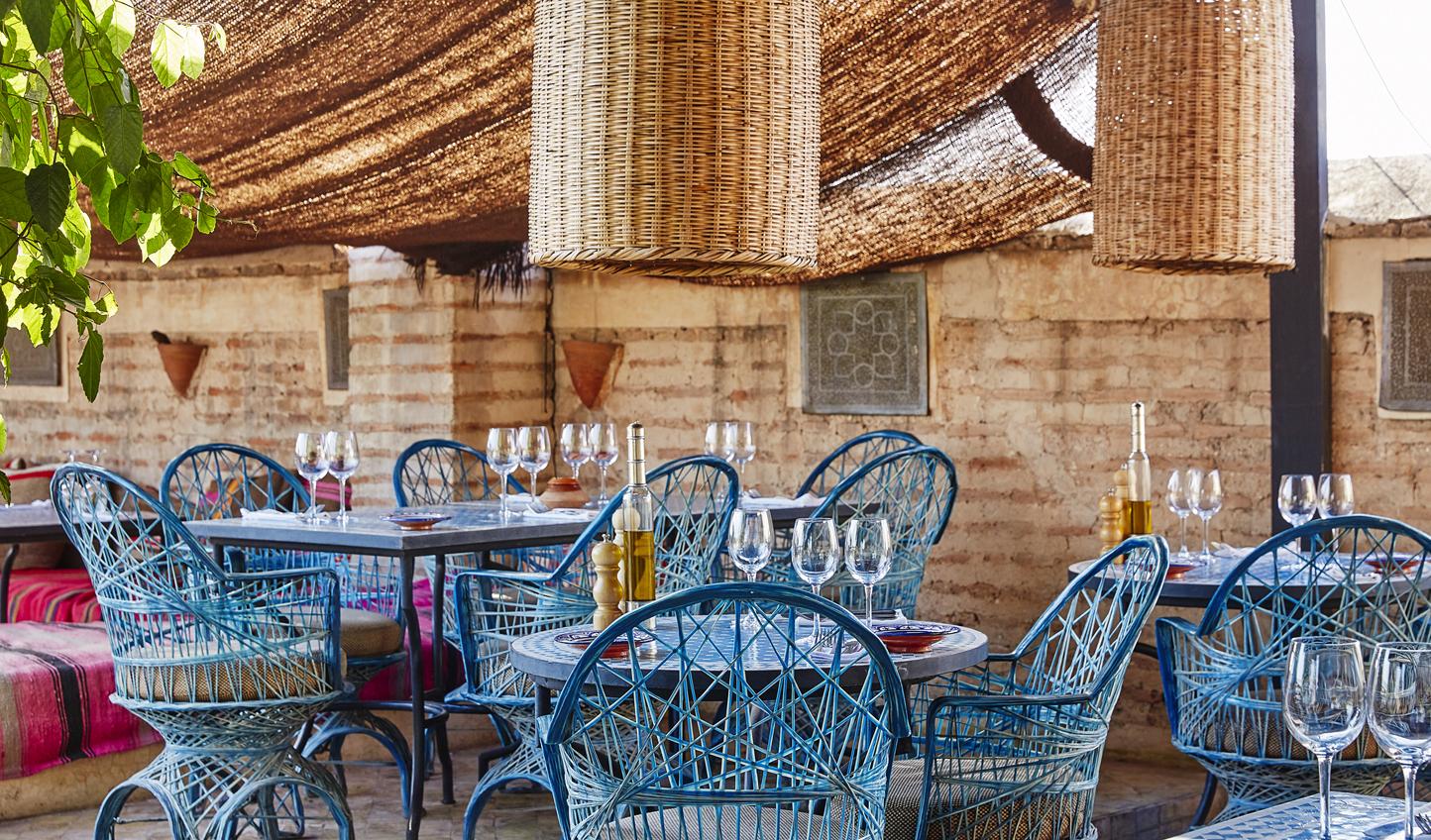 Sample Moorish cuisine out on the terrace