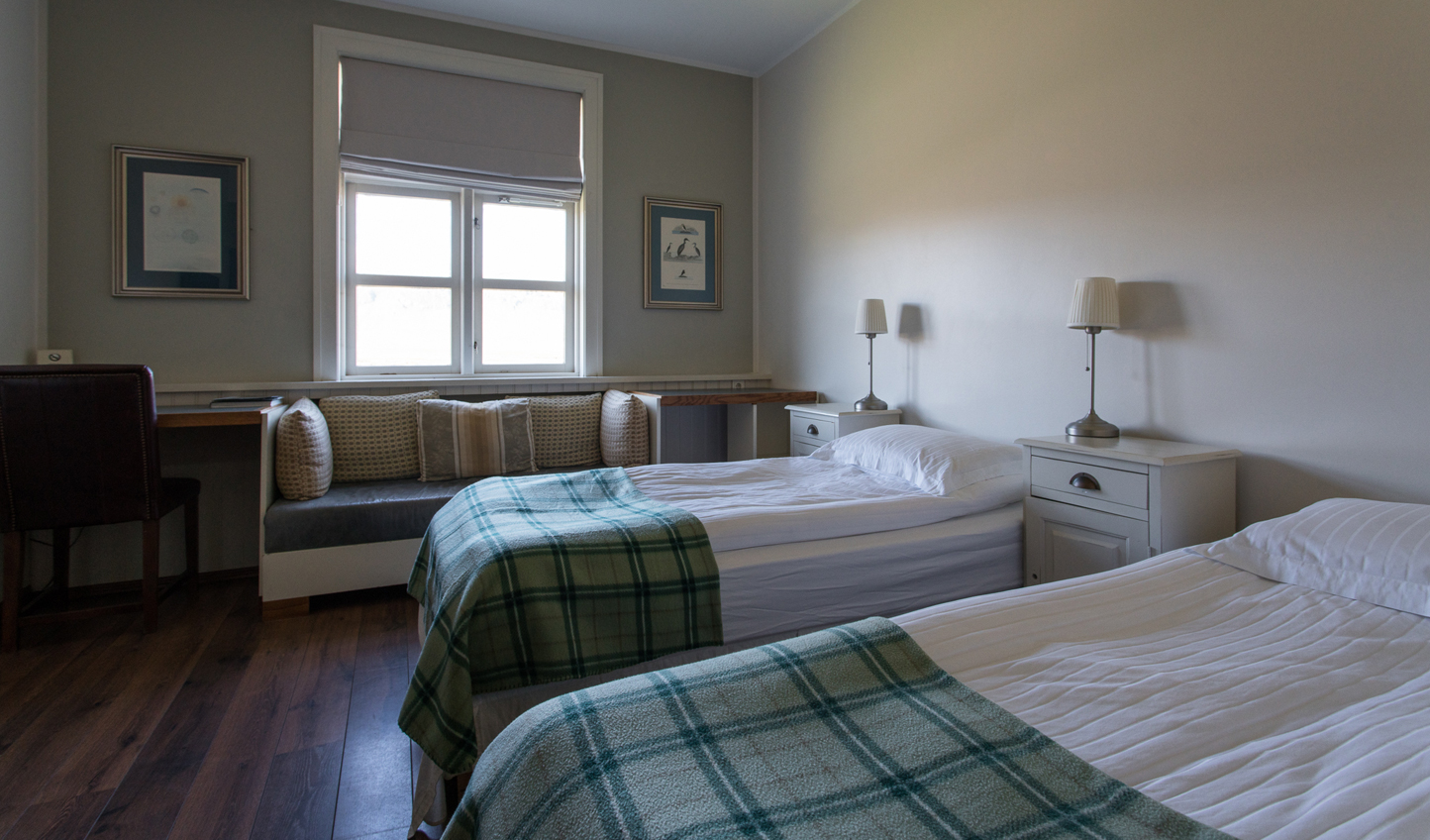 Cosy guestrooms can be set up as twins or doubles