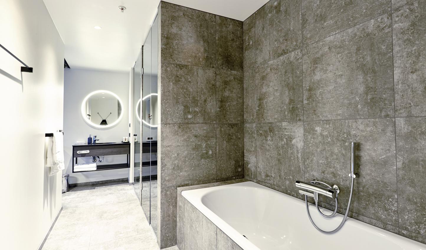Contemporary design in the bathroom