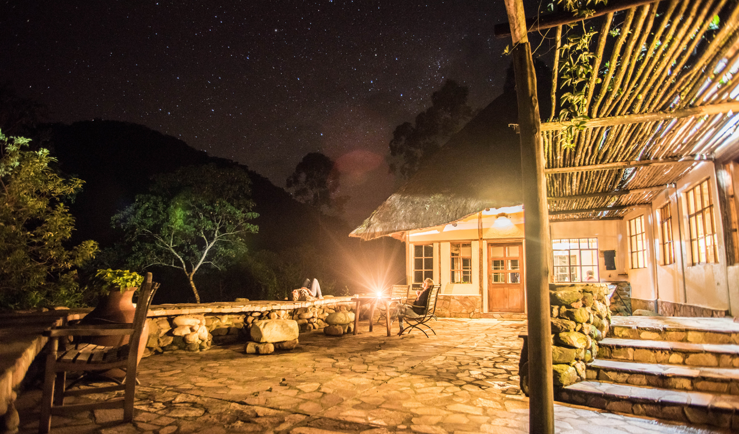 Gaze up at the stars from the expansive terrace