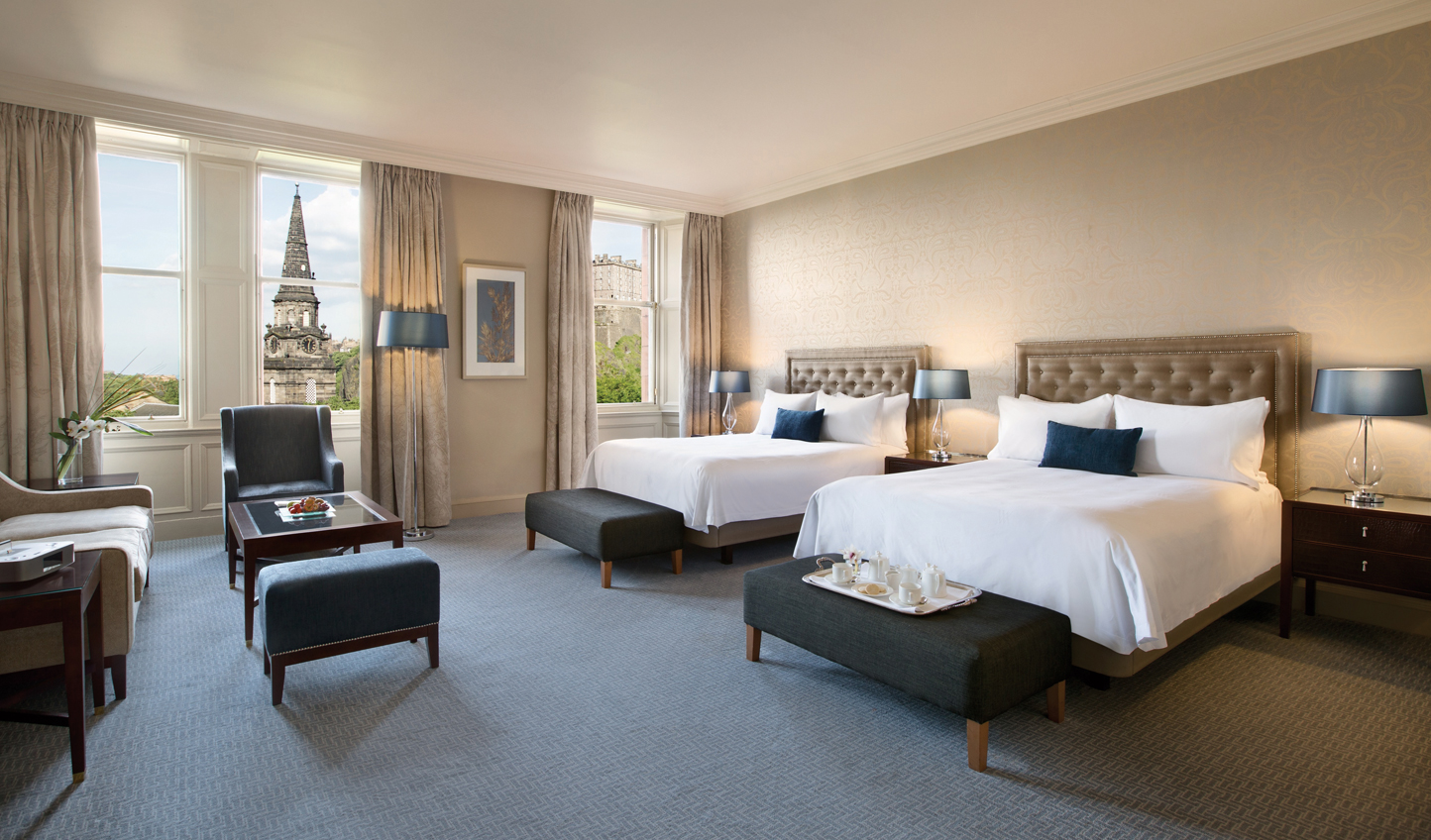Soak in views over Princes Street Gardens up to the Castle