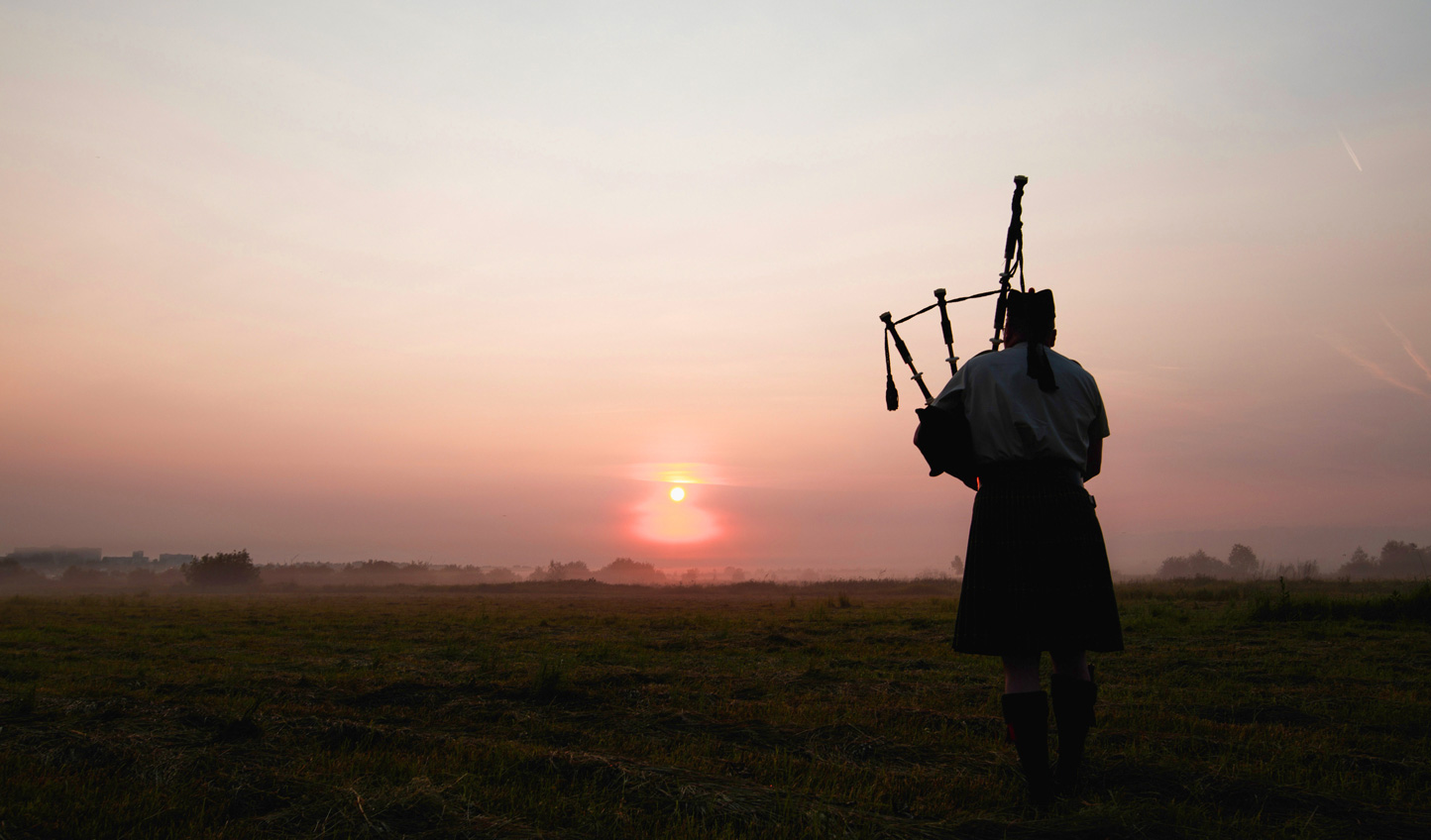 Get carried away on a lone piper's haunting lament