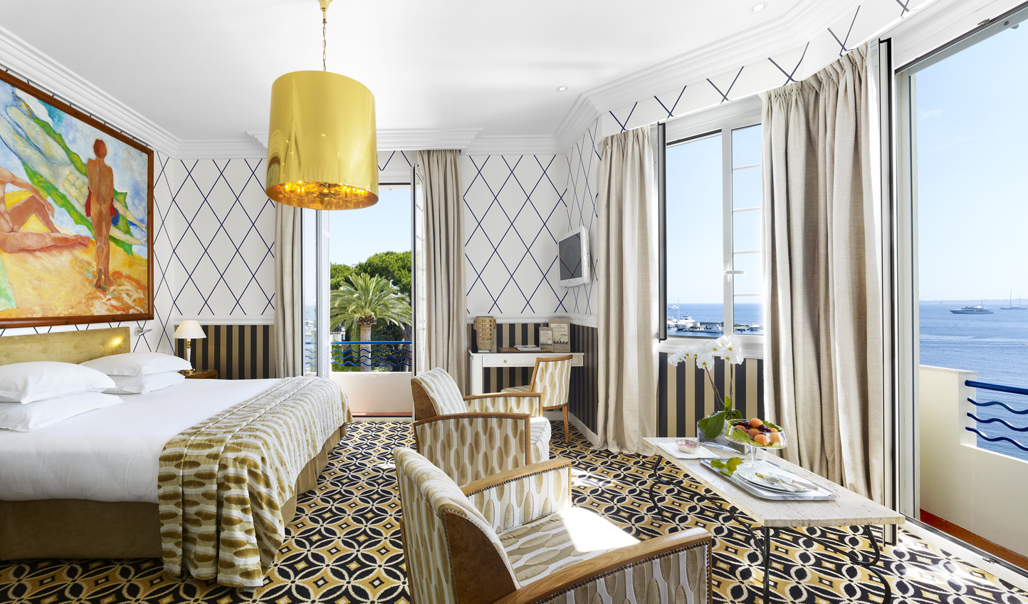 Sea views are a must at Belles Rives