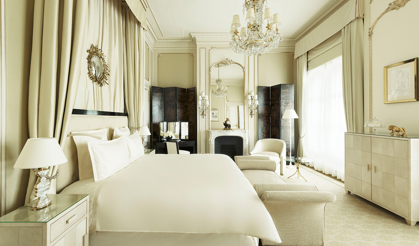 The Ritz Paris' effortlessly stylish Chanel suite, designed and lived in by Coco Chanel herself