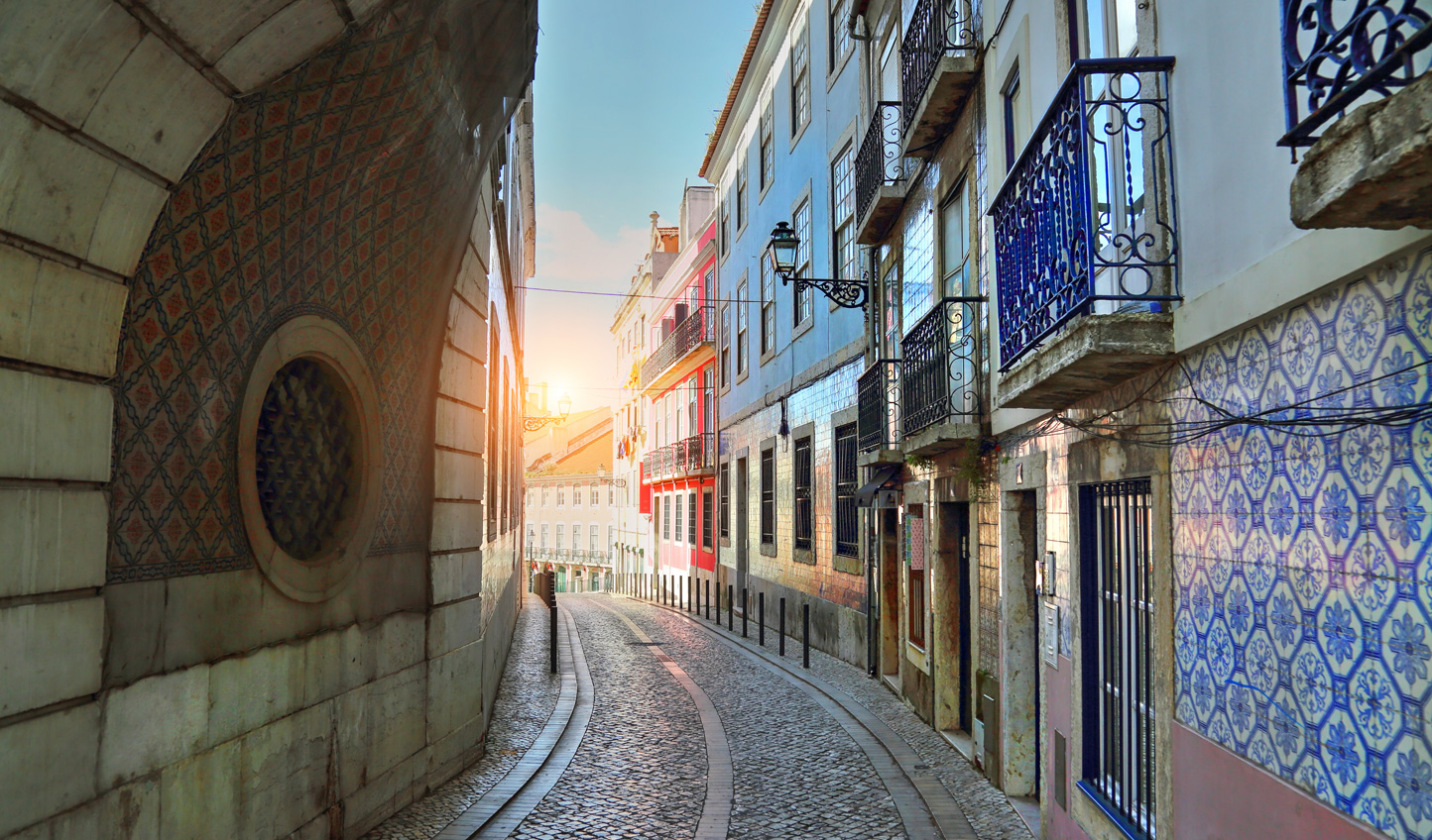 Wind through the colourful streets of Lisbon