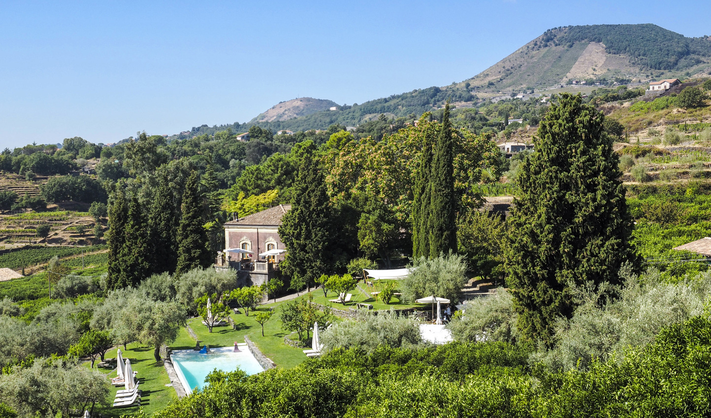 A 40-acre estate nestled into the fertile slopes of Mt. Etna