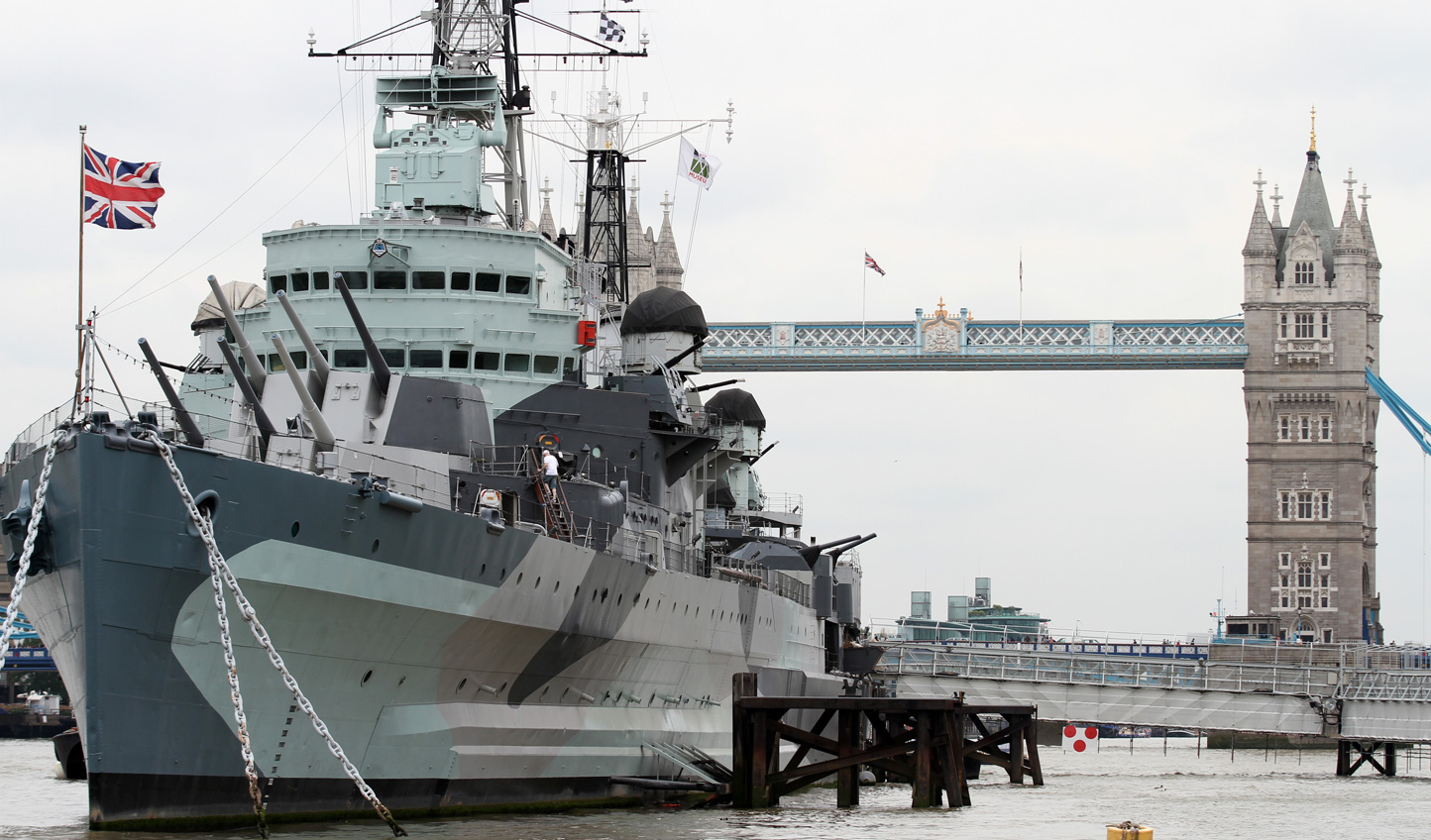 Take an exclusive tour of the historic HMS Belfast