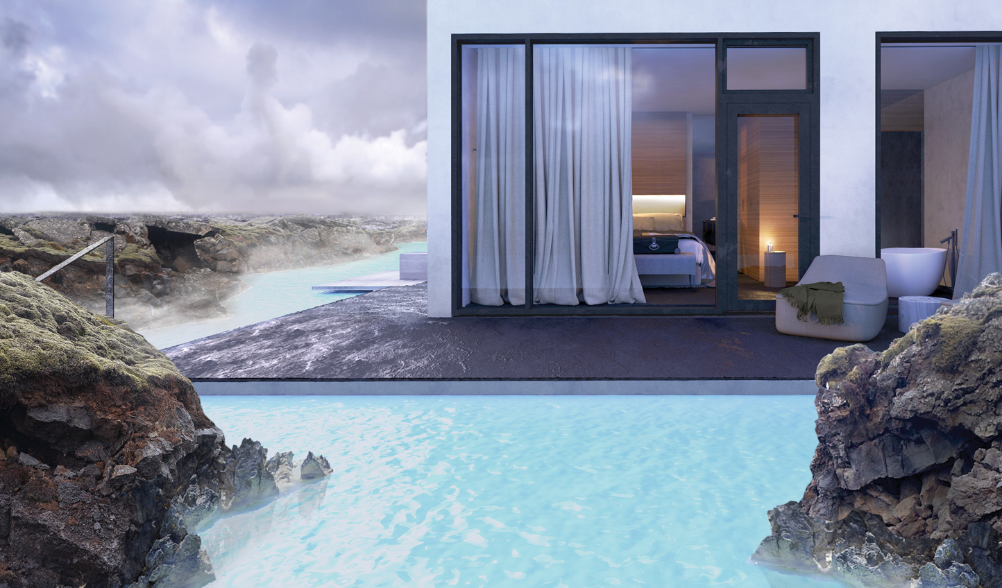 Dip your toes in the Blue Lagoon from the comfort of your suite