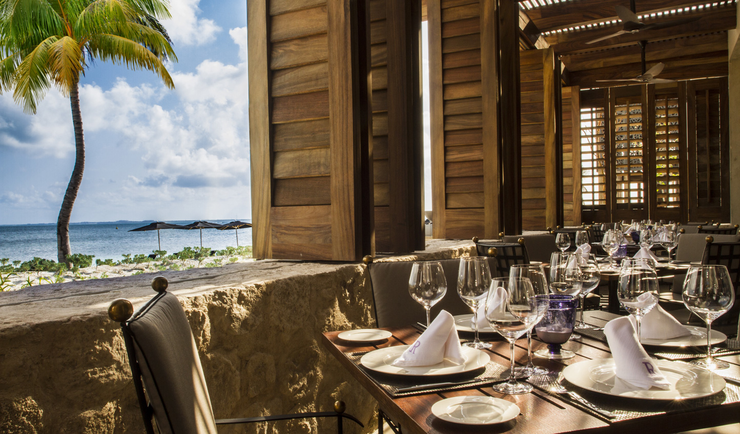 Dine al-fresco and feel the sea breeze on your skin