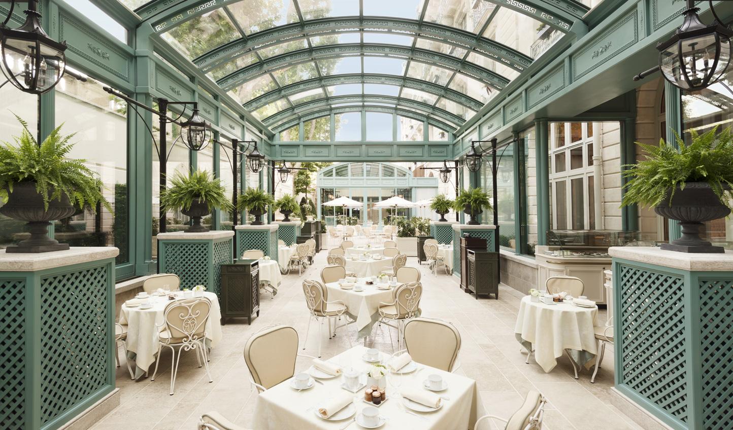 Enjoy your petit-dejeuner in the sunshine at the Ritz Paris