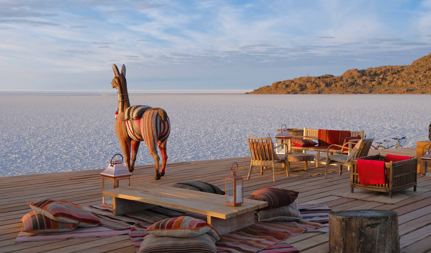 Watch the sunset over the Salar as you sip on a gin & tonic