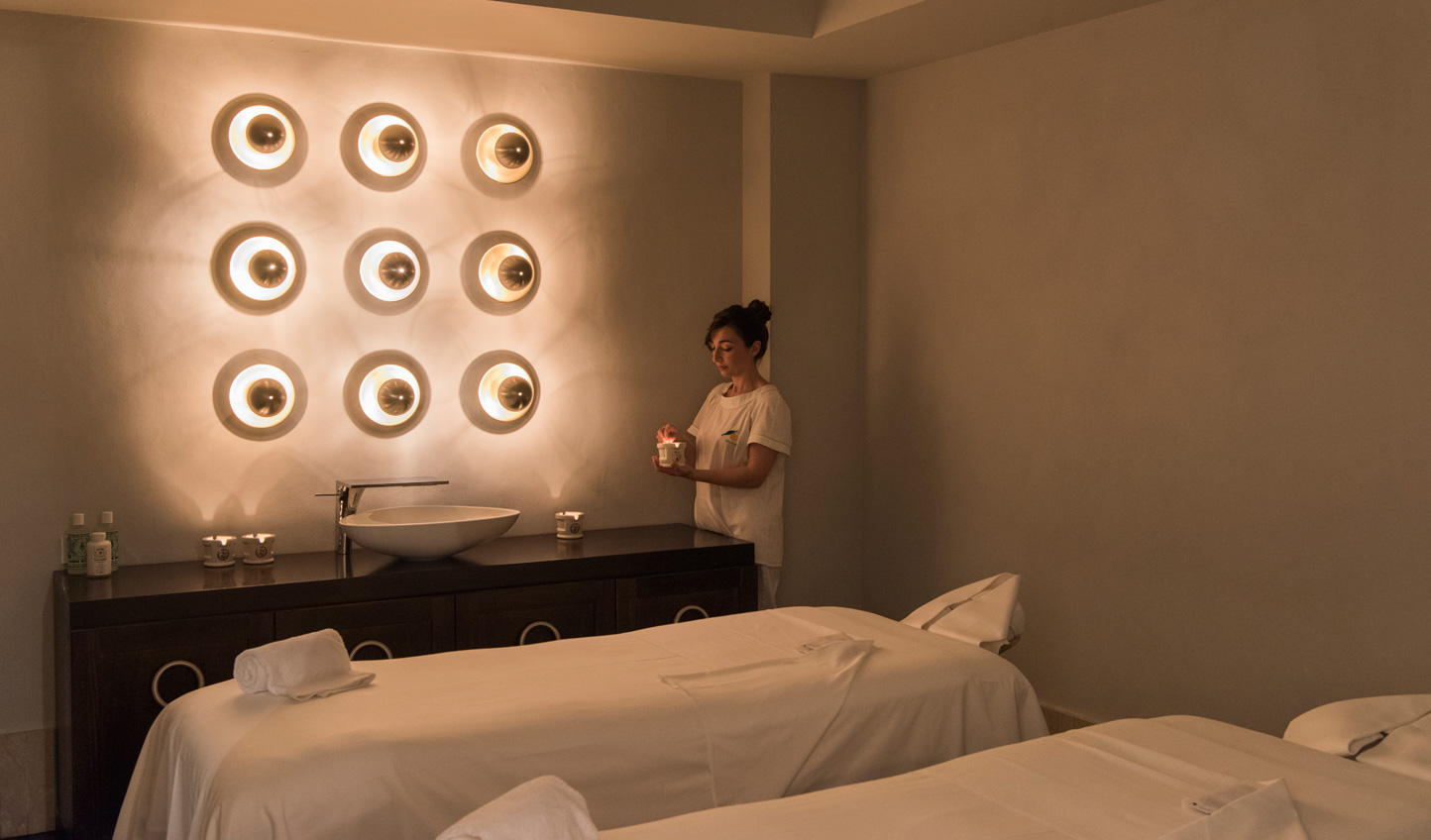 Indulge in a spot of pampering at the spa