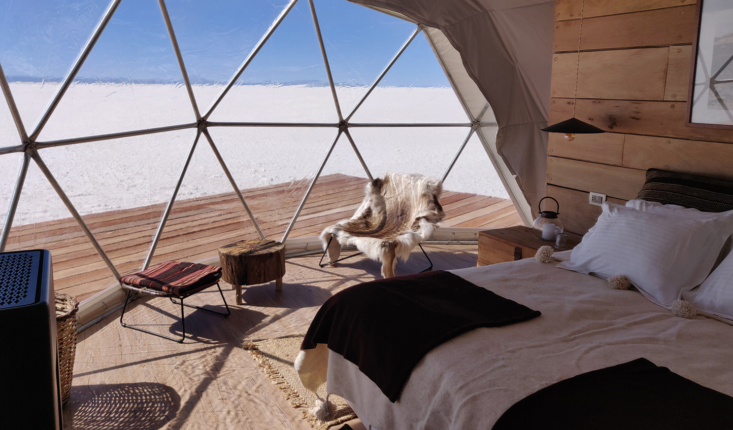 Wake up to uninterrupted views across the Salar
