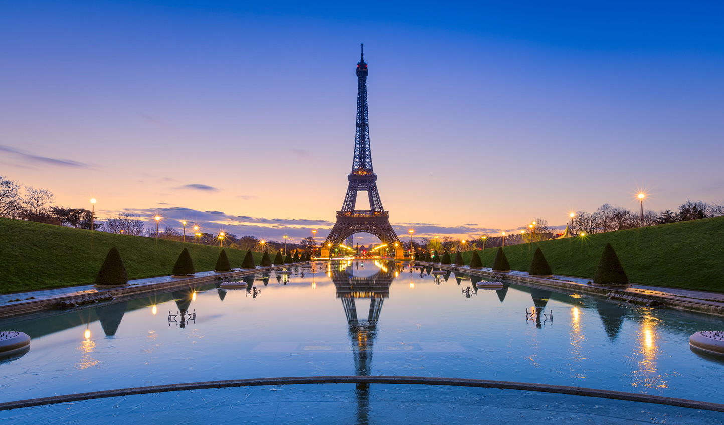 Watch the sunset from the most romantic spot in the world-the Eiffel Tower, before dining at Two Michelin Star restaurant Le Jules Verne