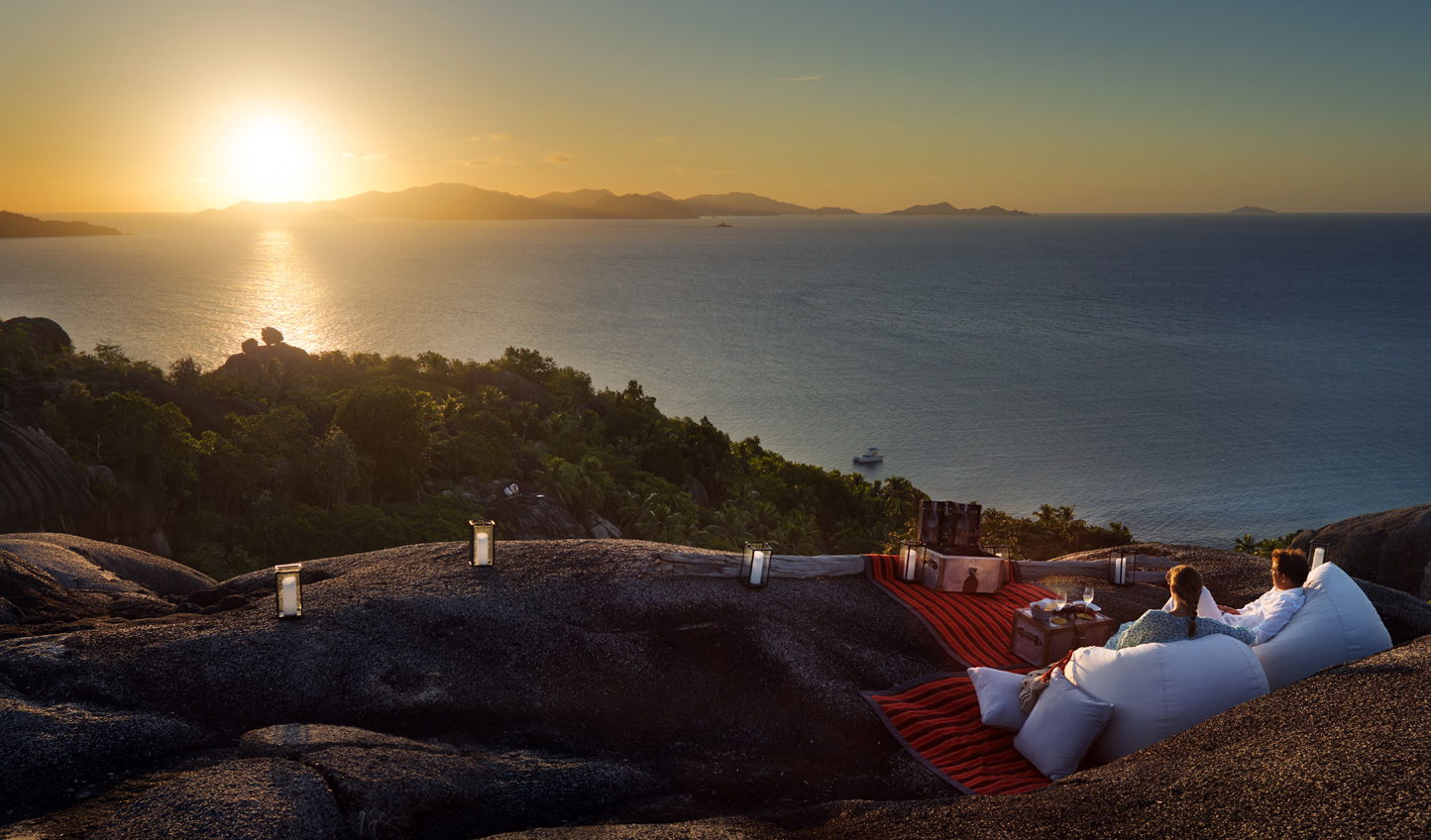 Picnic on top of the world as you hideaway in style in the Seychelles