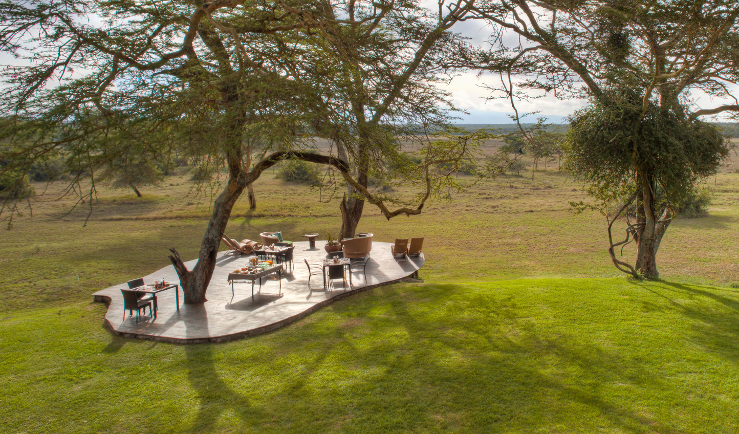 Dine with a view at Solio Lodge