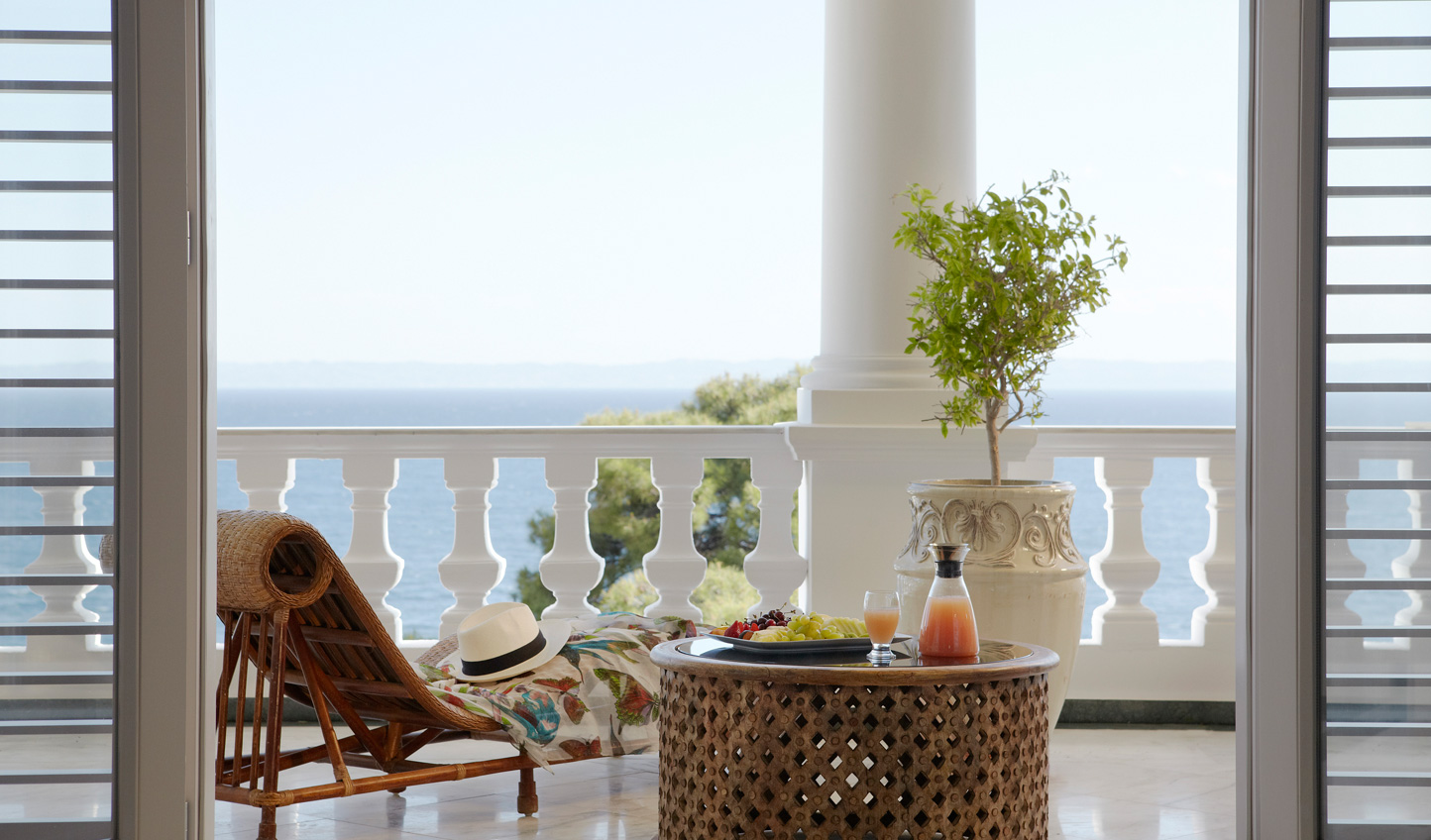 Relax and enjoy the view on your private balcony