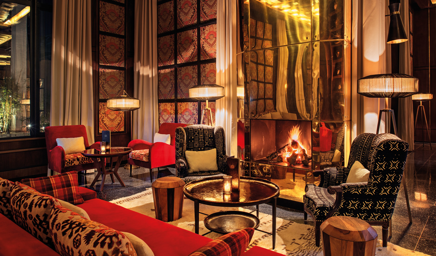 Enjoy a cocktail by the fire on chillier evenings
