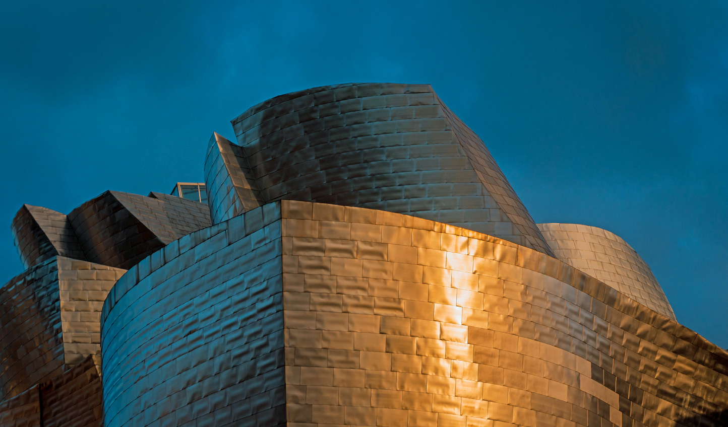 The iconic sight of the Guggenheim to greet you in Bilbao