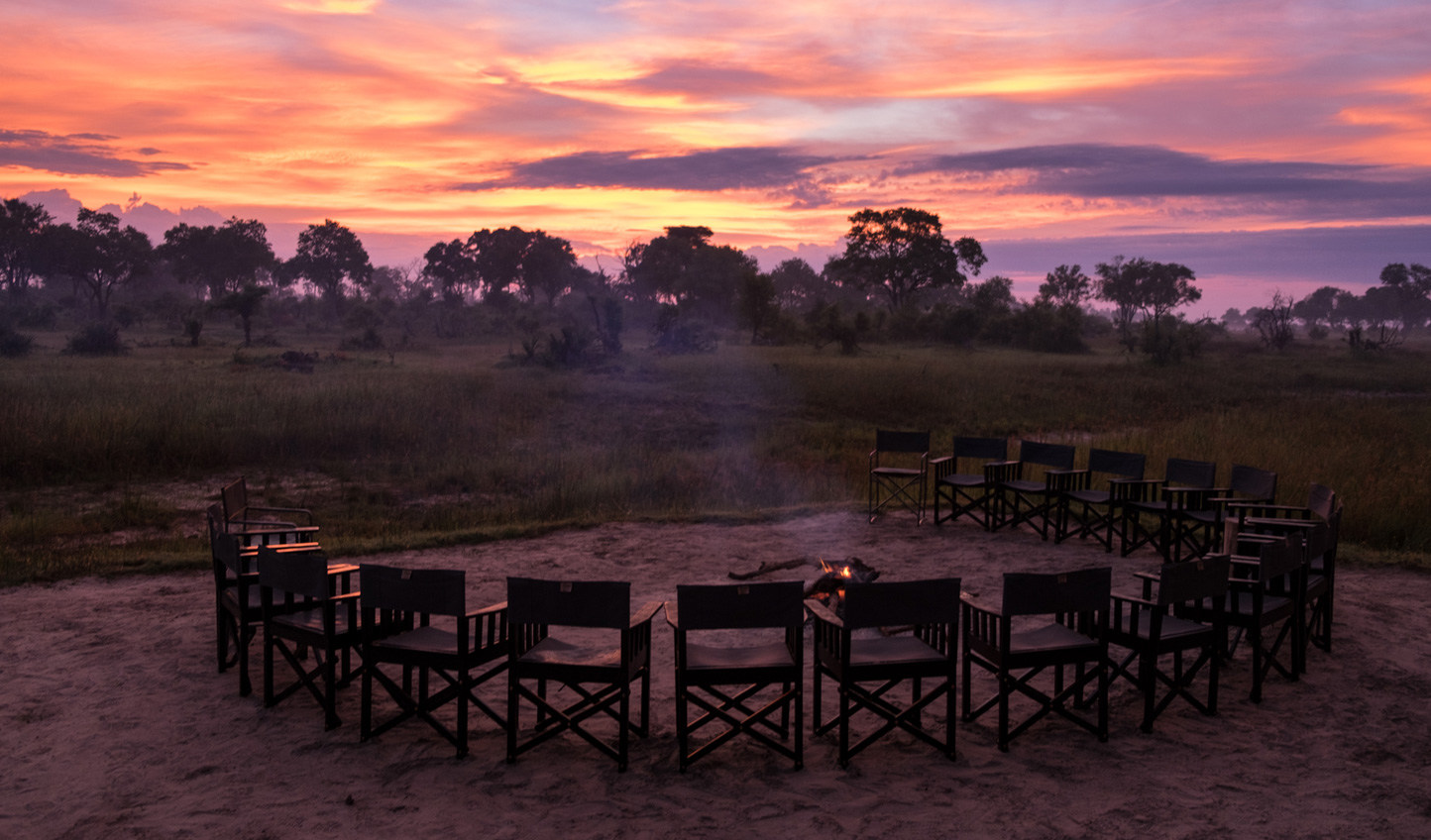 Spend an evening around the camp fire