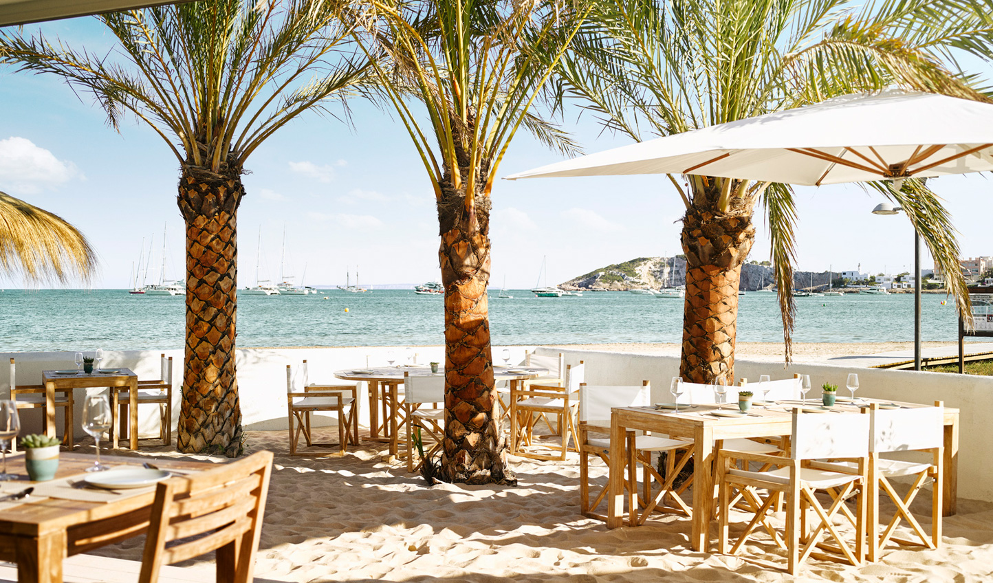 Enjoy lunch with your toes in the sand at Chambao