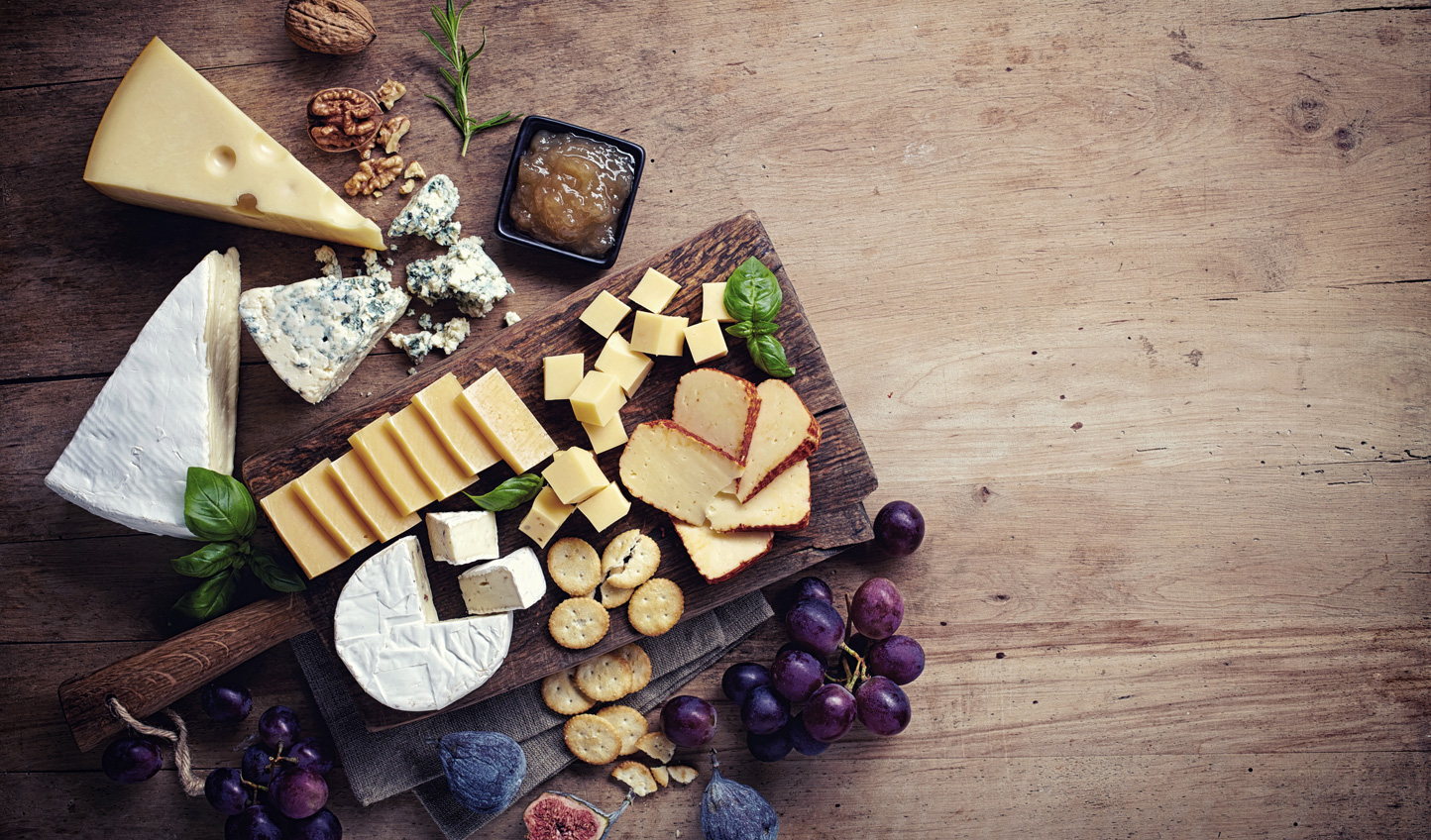 Sample local produce on a private cheese tasting