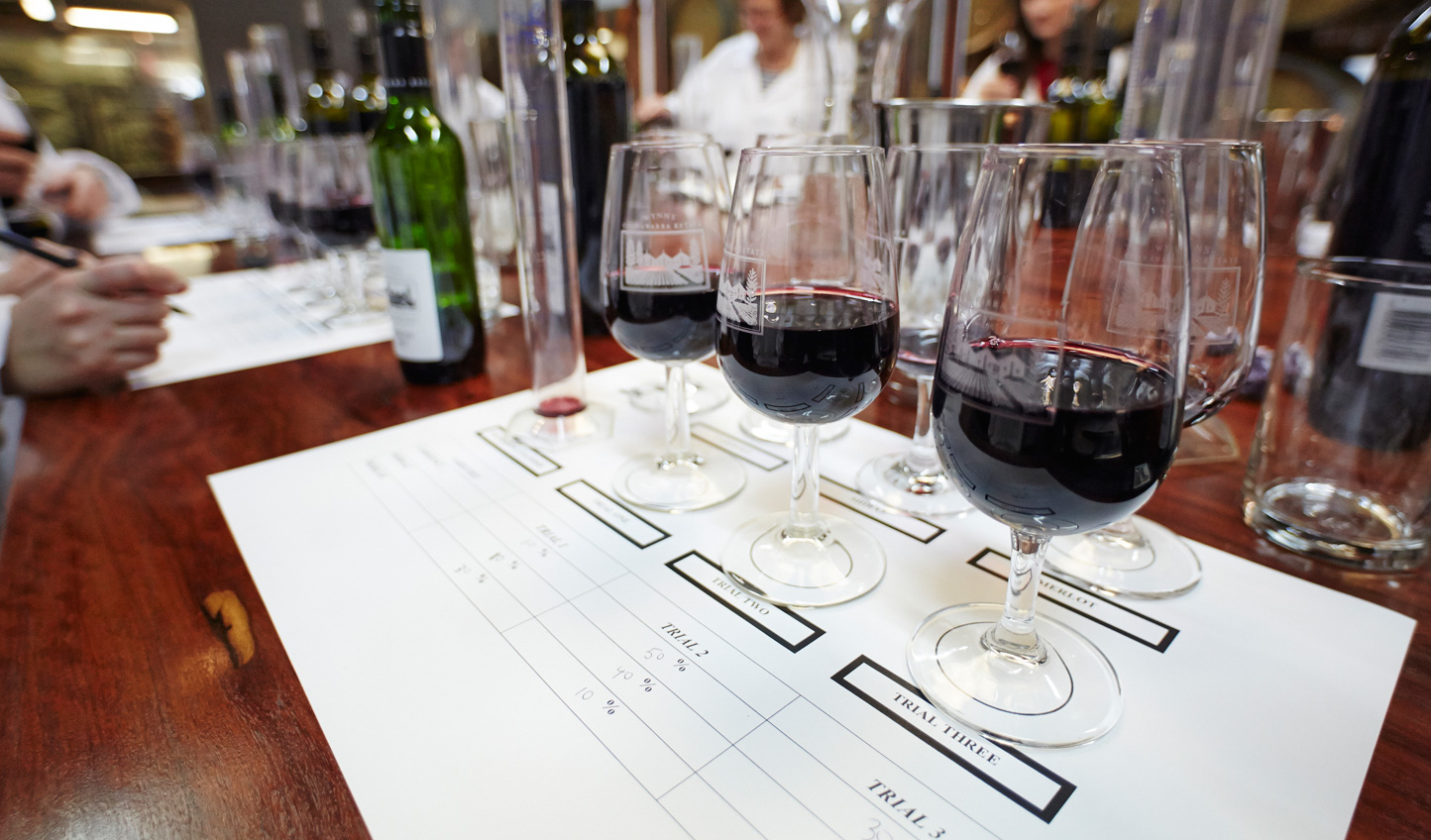Compare notes on your wine tasting at Coonawarra Estate