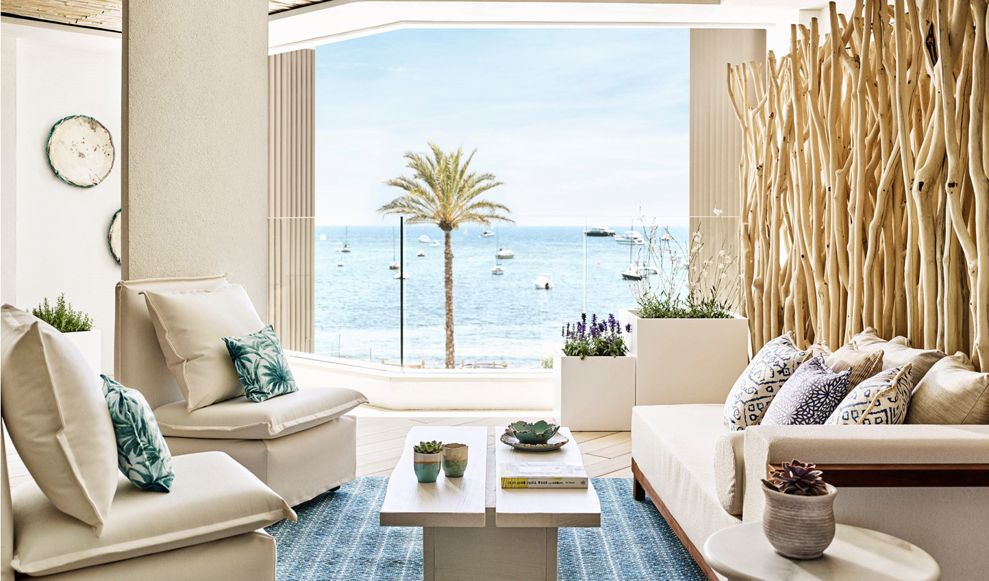 Look out over azure waters from the comfort of your suite