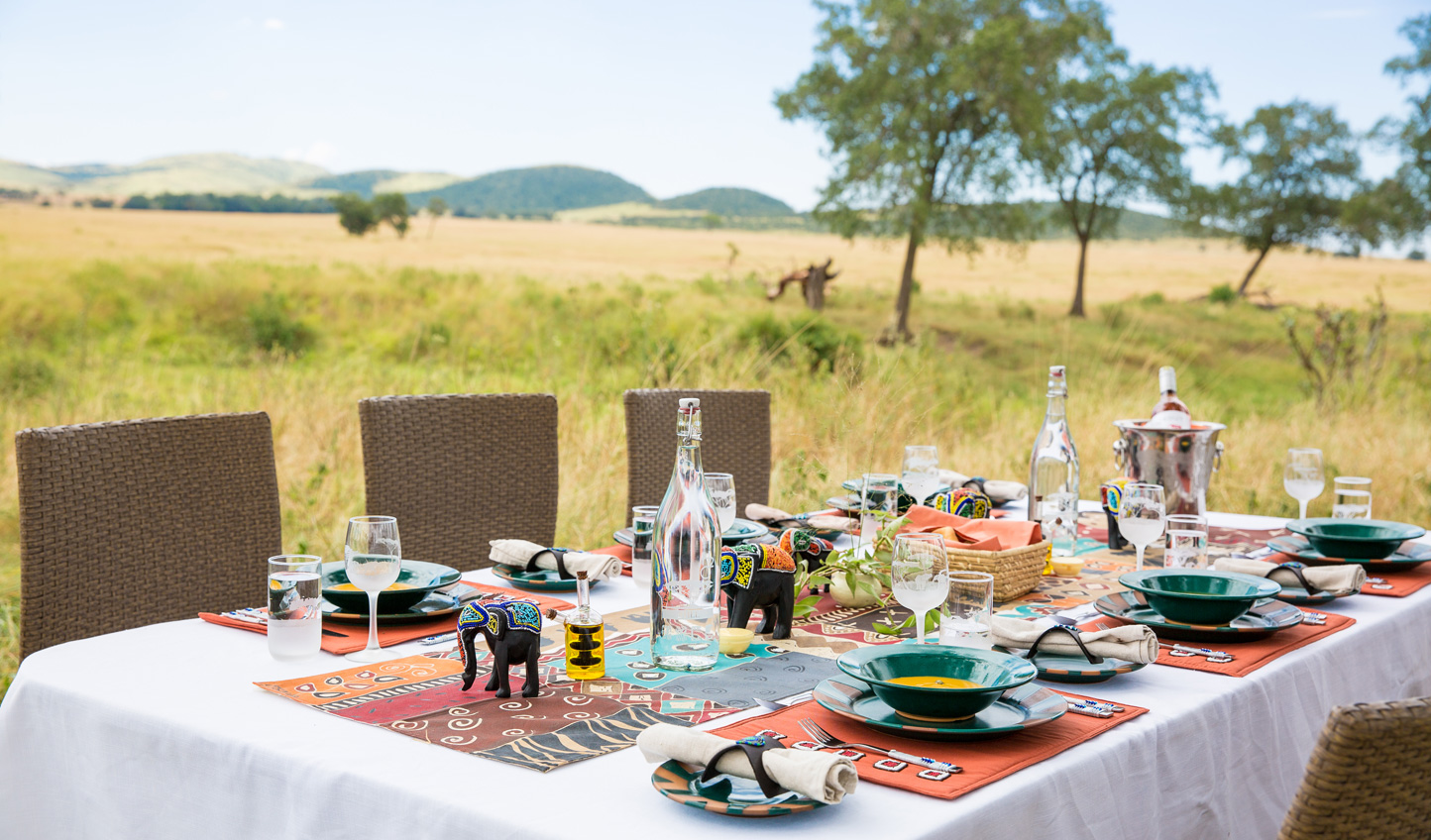 Dine in the bush