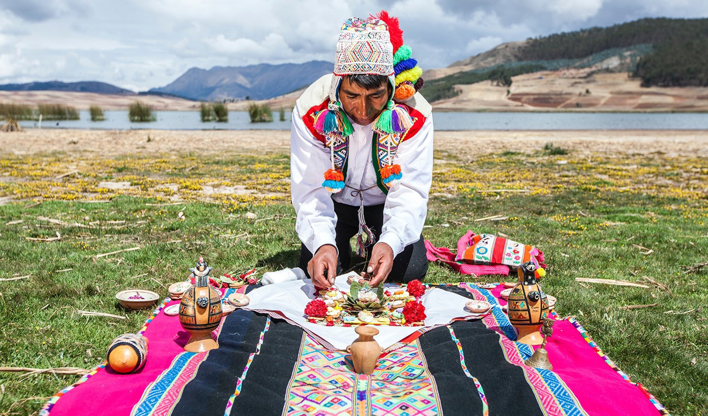 Give thanks to pachamama in an earth tribute ceremony
