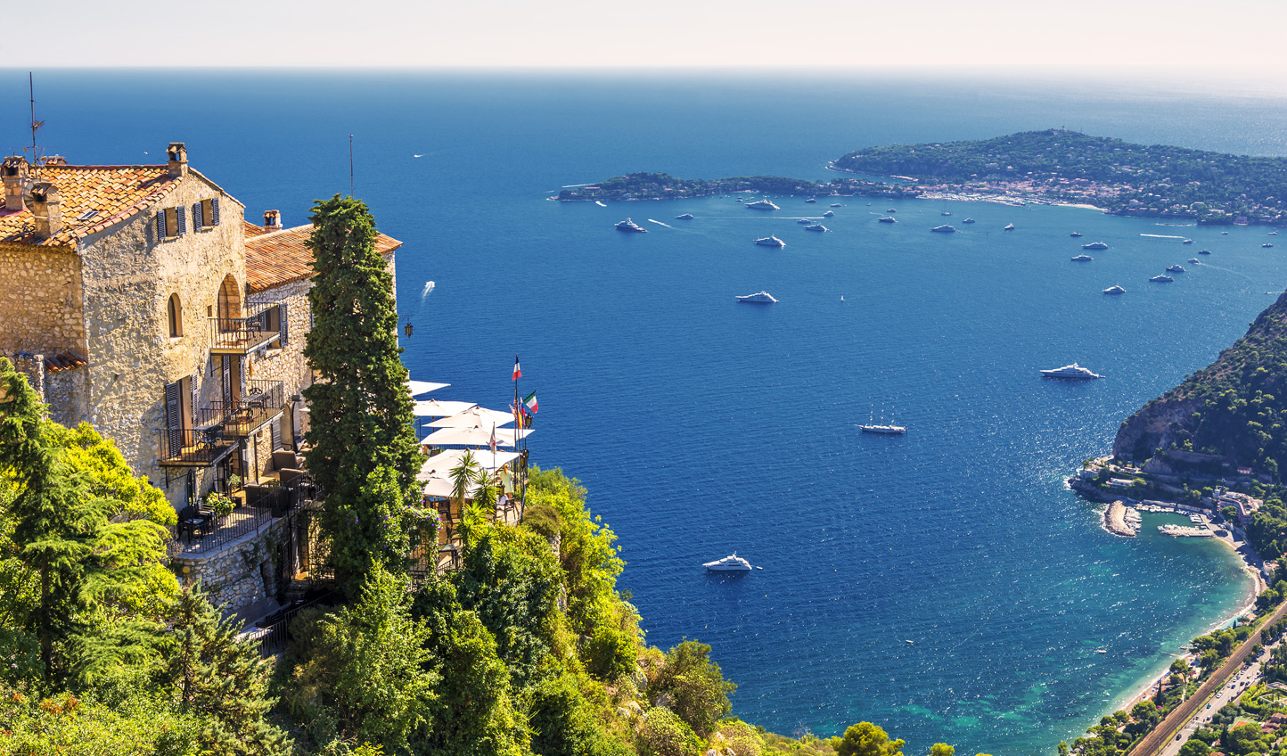 Finish your French adventure on Eze Bay on the dazzling Cote d'Azur