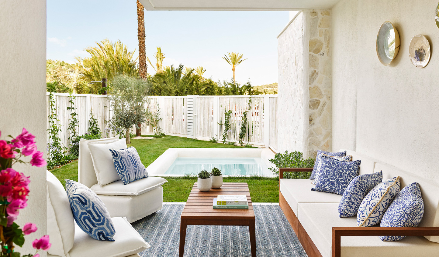 Step out into the serenity of a private garden