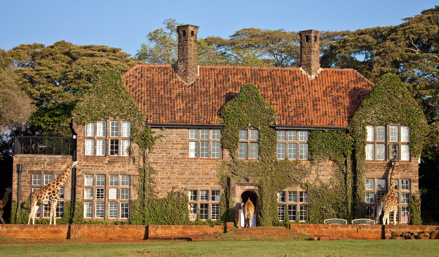 Stay at the stunning 1930s manor house hotel, Giraffe Manor, on your first night