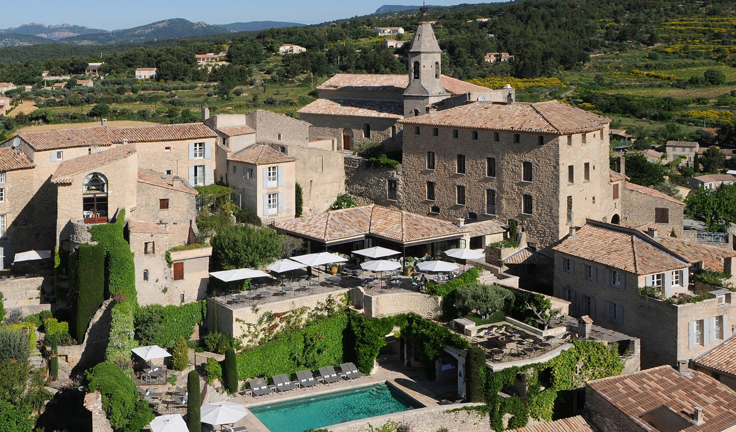 Rest your head at the hilltop Crillon Le Brave when you move on to Provence