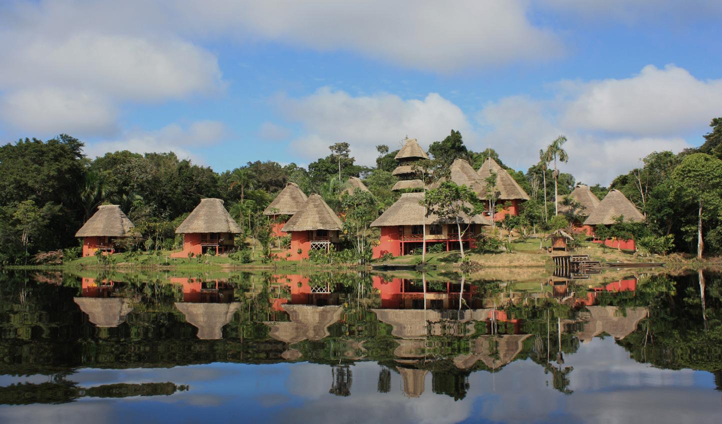 Idyllic setting on Lake Añangu