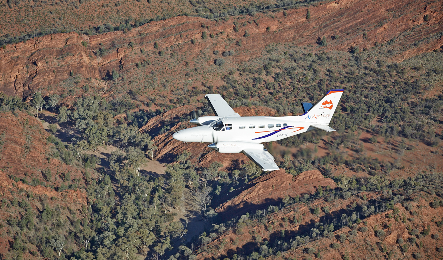 Soar above it all on a private scenic flight over Coonawarra