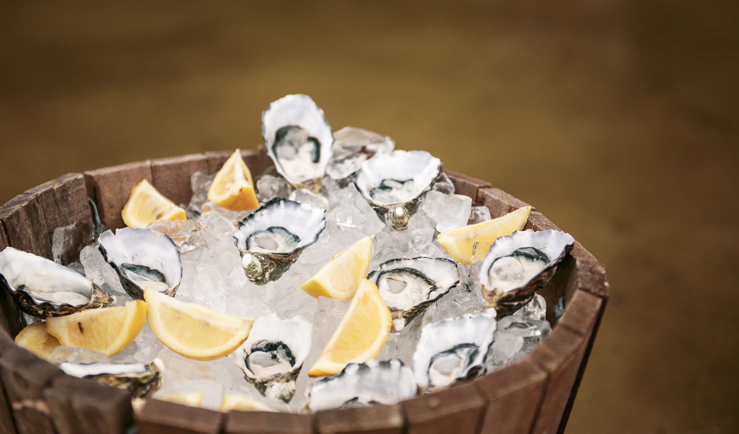 Pair oysters with a crisp sparkling wine for the ideal sundowner
