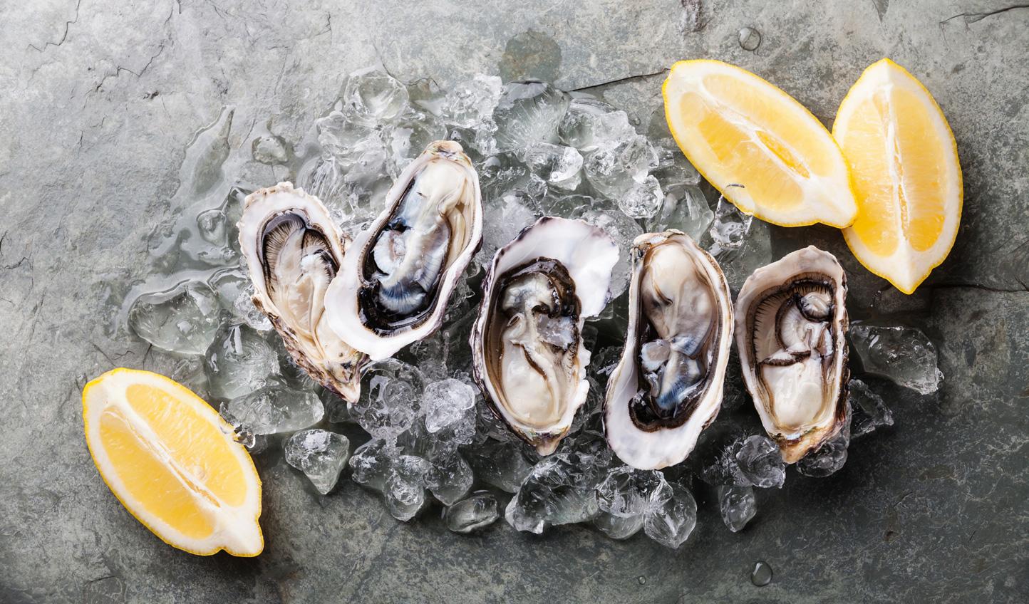 Shuck fresh oysters in Tasmania