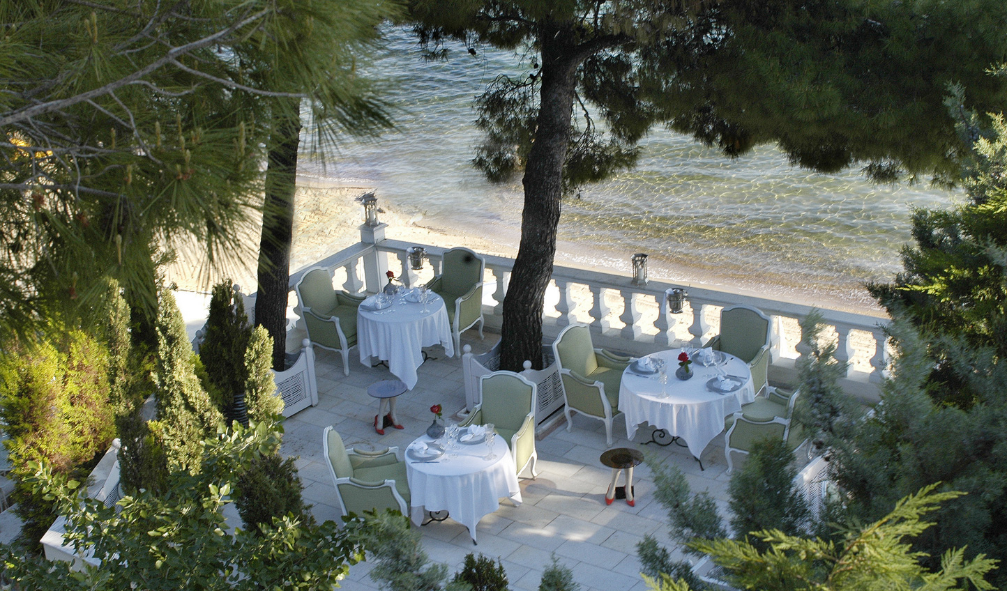 Enjoy lunch beneath the trees at Andromeda
