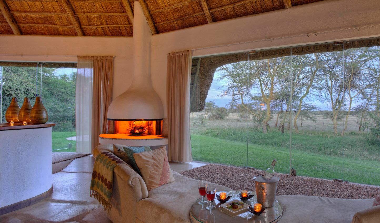 See large herds of rhinos from your room