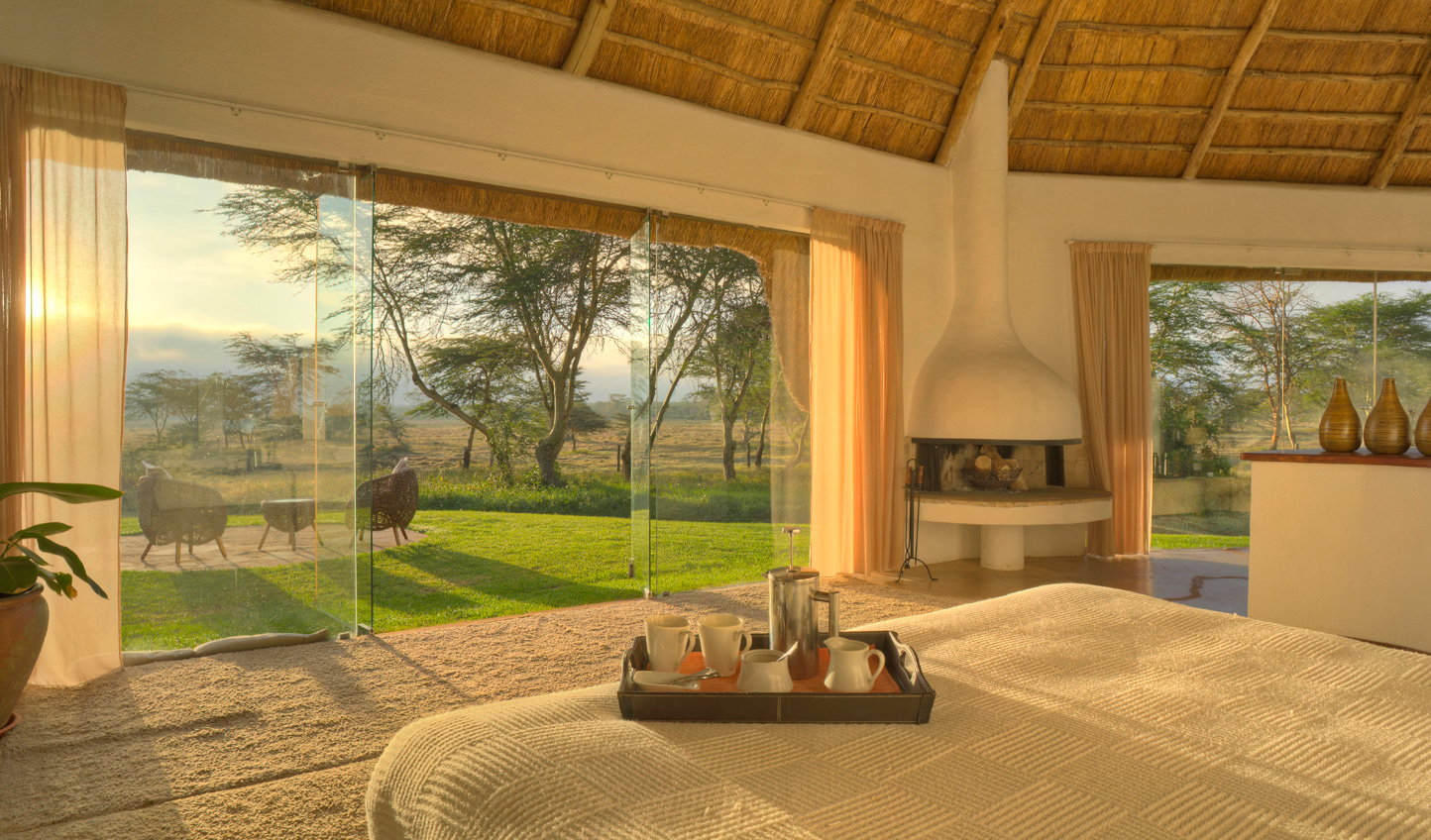 Wake up in Solio Game Reserve