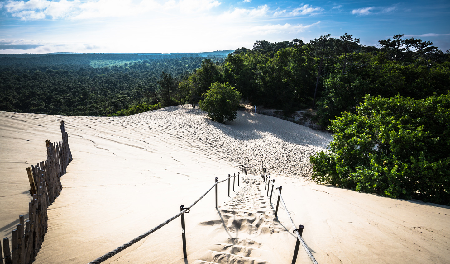 Head to Arcachon Bay to see the impressive sand dunes and try some oysters