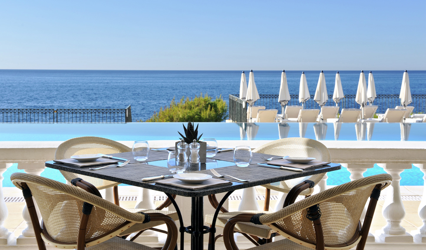 Admire the view from Club Dauphin at Grand Hôtel du Cap-Ferrat