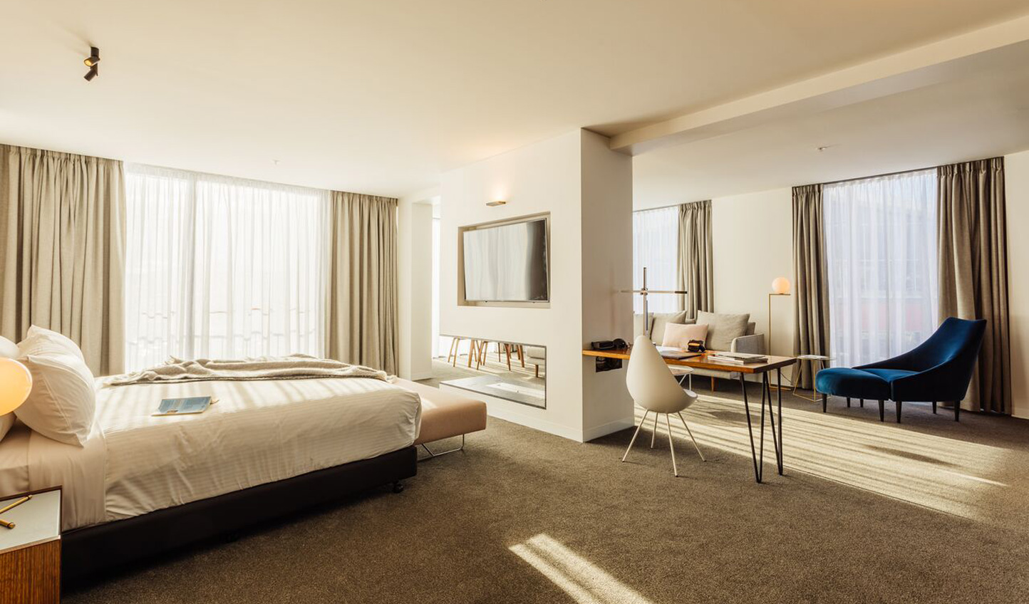 Minimalist design makes for a luxurious stay