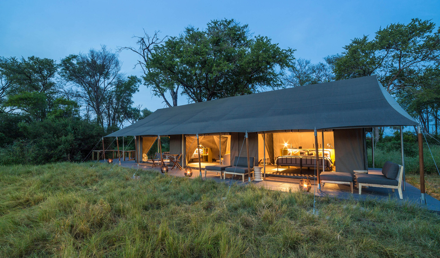 Get a spa treatment in your tent